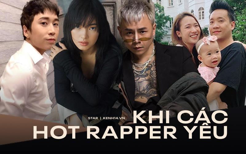 """Chuyện tình yêu của các rapper và hotgirl: Justatee mãi 1 mối tình, Karik dang dở, còn Binz """"bad boy"""" gây choáng nặng"""