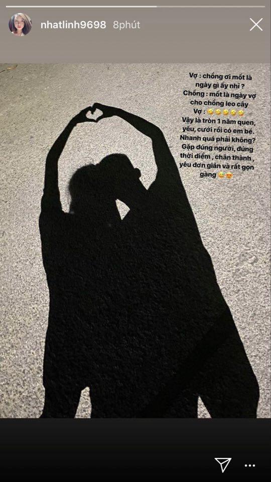 Nhật Linh kể về chuyện tình nhanh gọn với Văn Đức: Từ quen, yêu, cưới rồi có em bé chỉ trong đúng 1 năm - ảnh 1