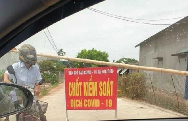 Thái Bình phong tỏa một thôn vì có ca bệnh dương tính lần 1 với Covid -19 từ Đà Nẵng về - Ảnh 1.