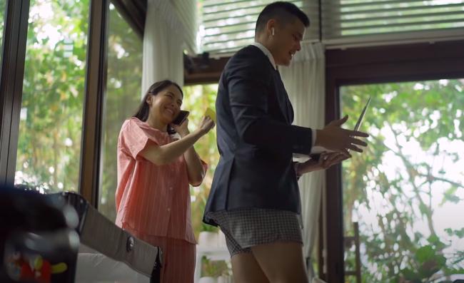 Khoảnh khắc dìm hàng nhau của gia đình mỹ nhân đẹp nhất Philippines: Vợ mặc nguyên bộ đồ ngủ, chồng thì trên vest chỉnh tề dưới lại diện quần đùi - ảnh 2