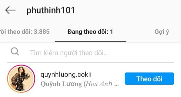 Phú Thịnh follow một mình Quỳnh Lương trên Instagram để chứng minh: Chỉ tìm hiểu 1 lần 1 người - ảnh 3