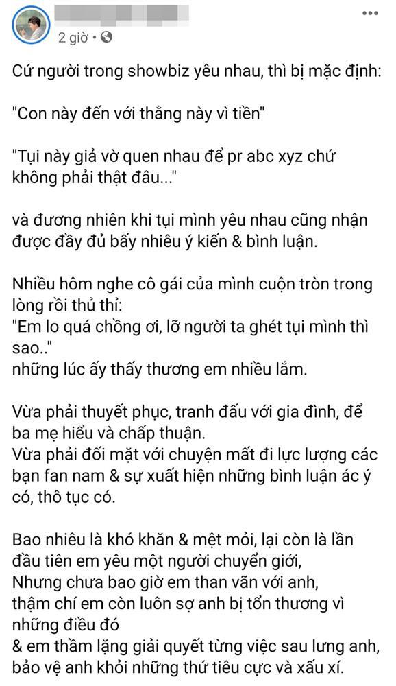 MC Miko Lan Trinh công khai chân dung người yêu chuyển giới, kể chuyện bị chỉ trích chỉ vì để nửa kia thắt dây giày hộ - Ảnh 7.
