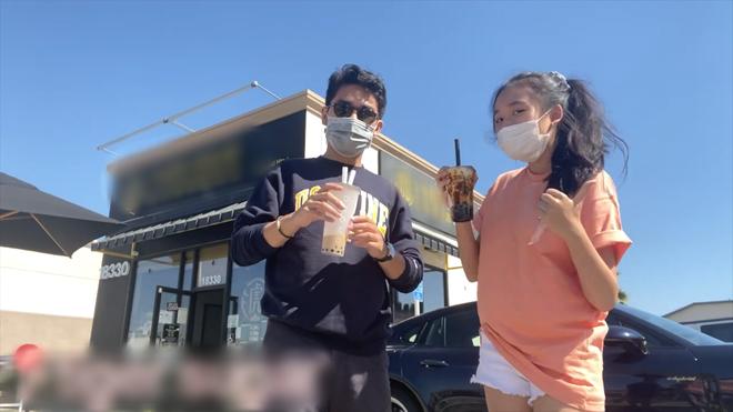 Jenny Huỳnh khoe anh trai đưa đi uống trà sữa khắp nước Mỹ, khẩu trang kín mít nhưng thấy hơi lầy và quá là điển trai - ảnh 2