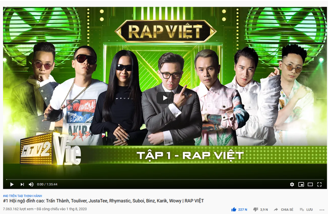 Không chỉ gây bão trong nước, Người ấy là ai & Rap Việt còn lọt top trending YouTube ở Singapore, Đài Loan! - ảnh 3