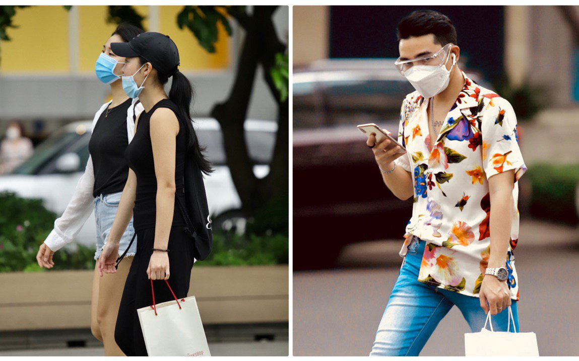 Giới trẻ Sài Gòn kín mít khẩu trang xuống phố, mua sắm hay