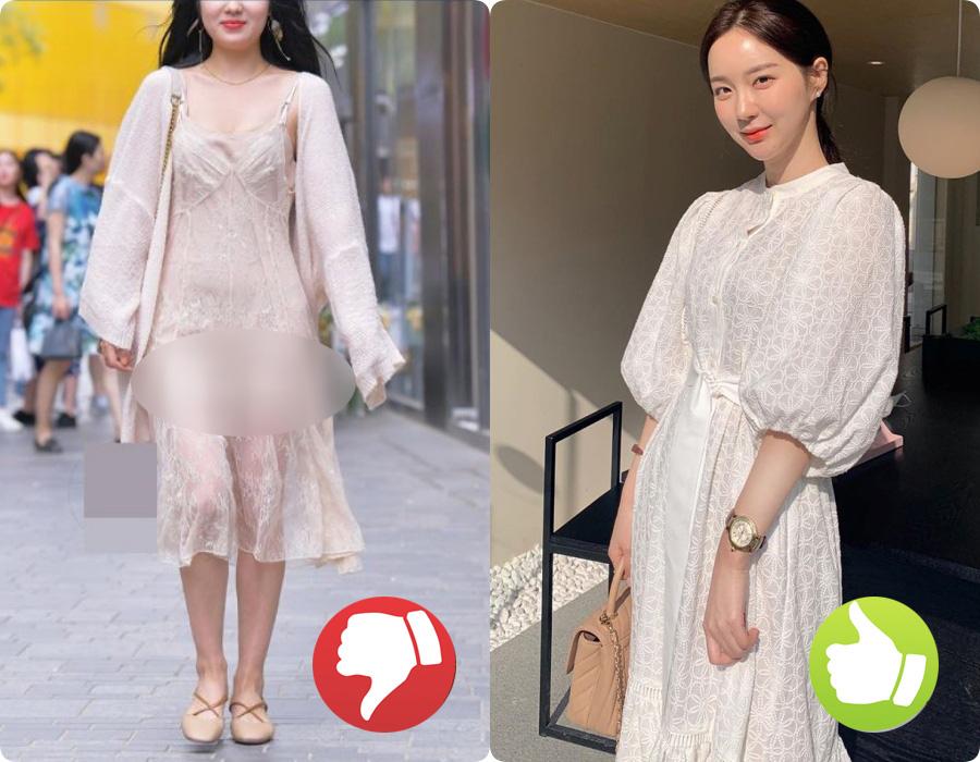 Cứ nghĩ áo váy màu trắng là thanh lịch nhất rồi, nào ngờ cũng đầy rẫy thảm họa nhé các nàng ơi! - Ảnh 1.