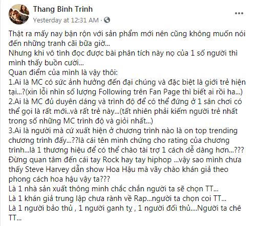 Trấn Thành có động thái mới nhất trước những tranh cãi xoanh quanh việc làm MC Rap Việt - ảnh 4