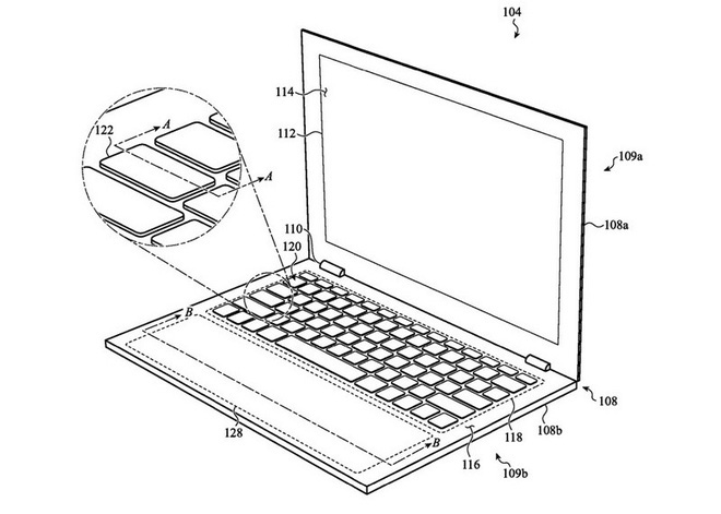 Bàn di chuột của MacBook Pro tương lai có thể lớn hơn, trang bị đèn nền và có thể tháo rời - ảnh 2