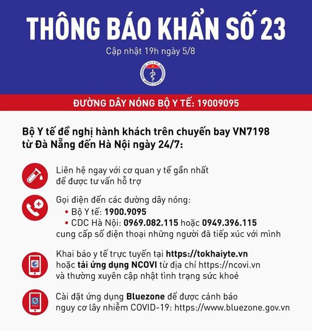 73 người ở Hà Nội bay cùng chuyến với 6 ca nhiễm Covid-19 - ảnh 1