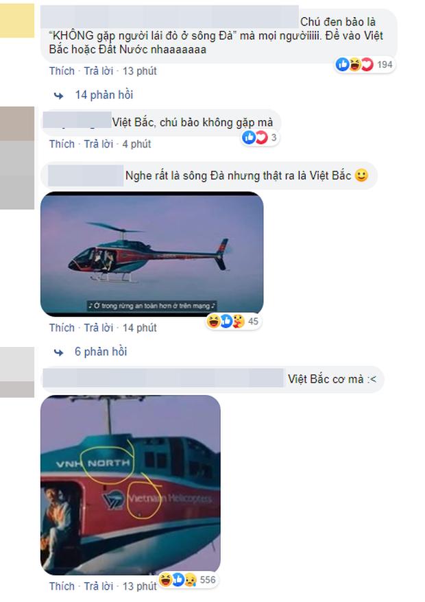 Bức ảnh viral nhất MXH hôm nay: Chỉ là Đen Vâu ngồi trên trực thăng thôi mà mổ xẻ ra được 1500 thuyết âm mưu! - ảnh 1