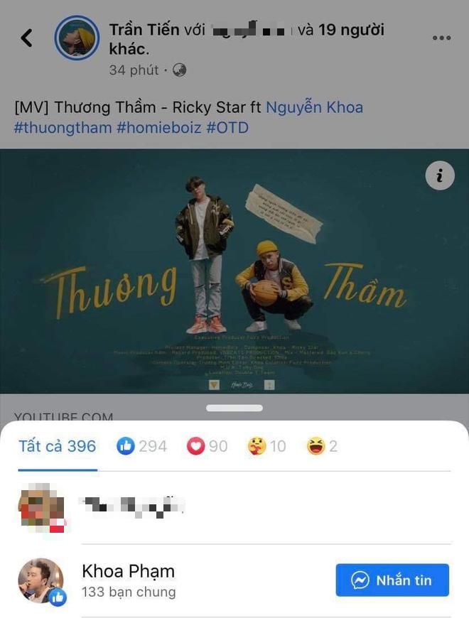 Karik nhấn like MV mới của Ricky Star sau ồn ào rap diss - ảnh 3