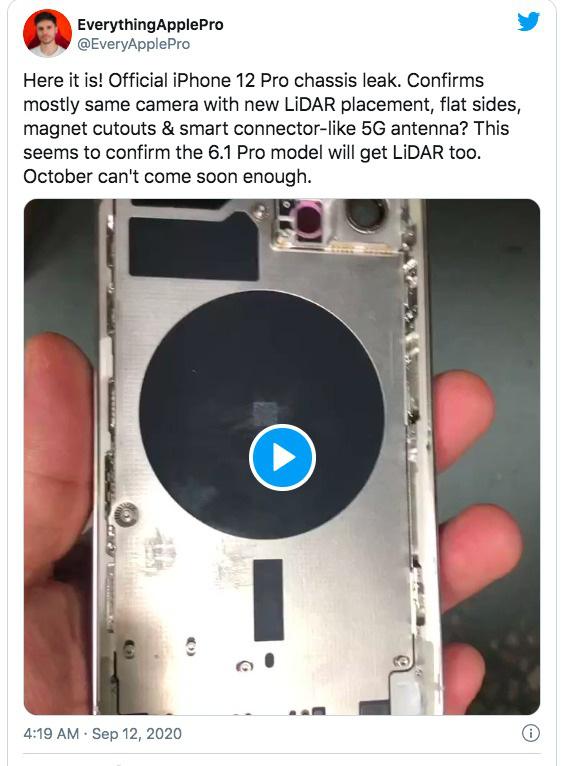 Rò rỉ video trên tay mặt lưng iPhone 12 Pro - Ảnh 1.