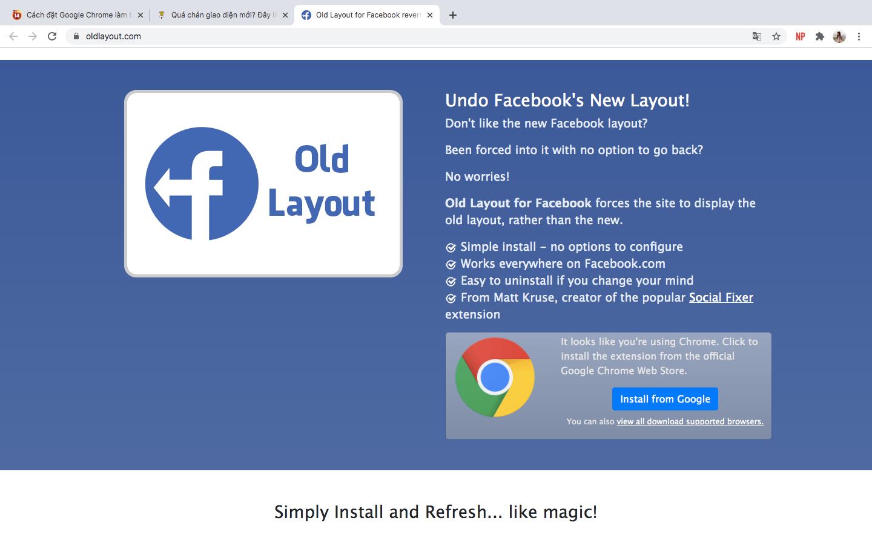 Quá chán giao diện Facebook mới, đây sẽ là cách giúp bạn trở về phiên bản cũ - Ảnh 2.