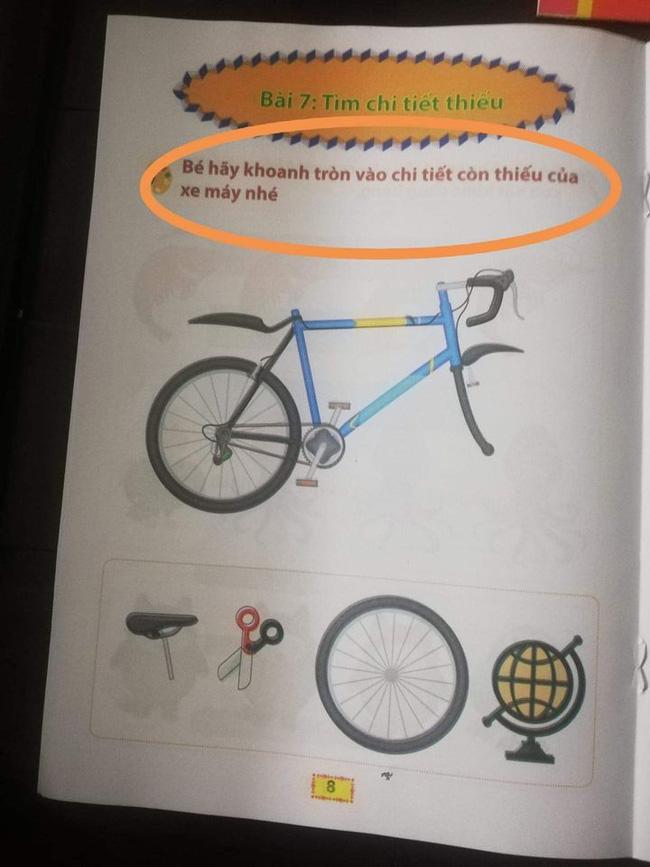 Phụ huynh choáng váng trước bộ sách sai tùm lum: Con bò thì viết thành con bì, dạy về xe máy thì cho hẳn xe đạp làm hình minh họa - Ảnh 9.