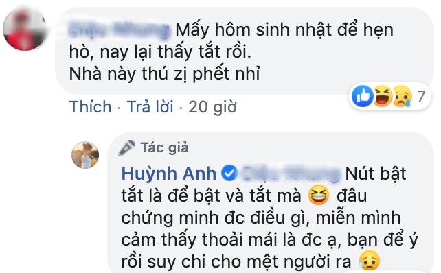 Huỳnh Anh lên tiếng về việc suốt ngày tắt-bật chế độ hẹn hò với Quang Hải: Mình cảm thấy thoải mái là được - ảnh 1