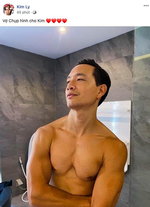 """Kim Lý đăng ảnh khoe body cuồn cuộn """"nóng mắt"""" do Hà Hồ chụp cho, nhưng chú thích kiểu gì mà vợ phải nhảy vào đính chính? - ảnh 1"""