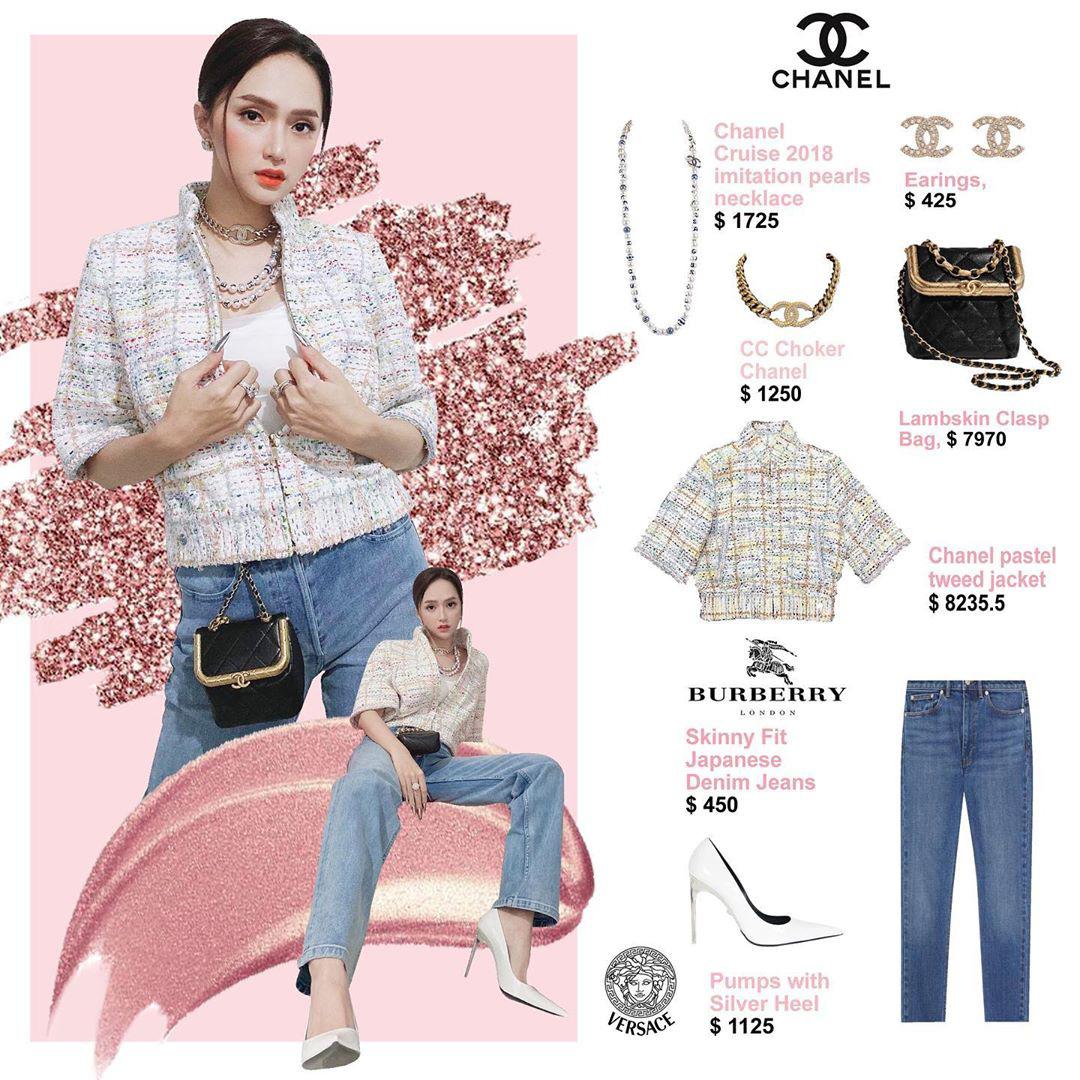 Bóc giá loạt outfit của Hương Giang từ khi hẹn hò Matt Liu: Cây nào cũng trăm triệu, đồng hồ gần tỷ đeo như cơm bữa - Ảnh 8.