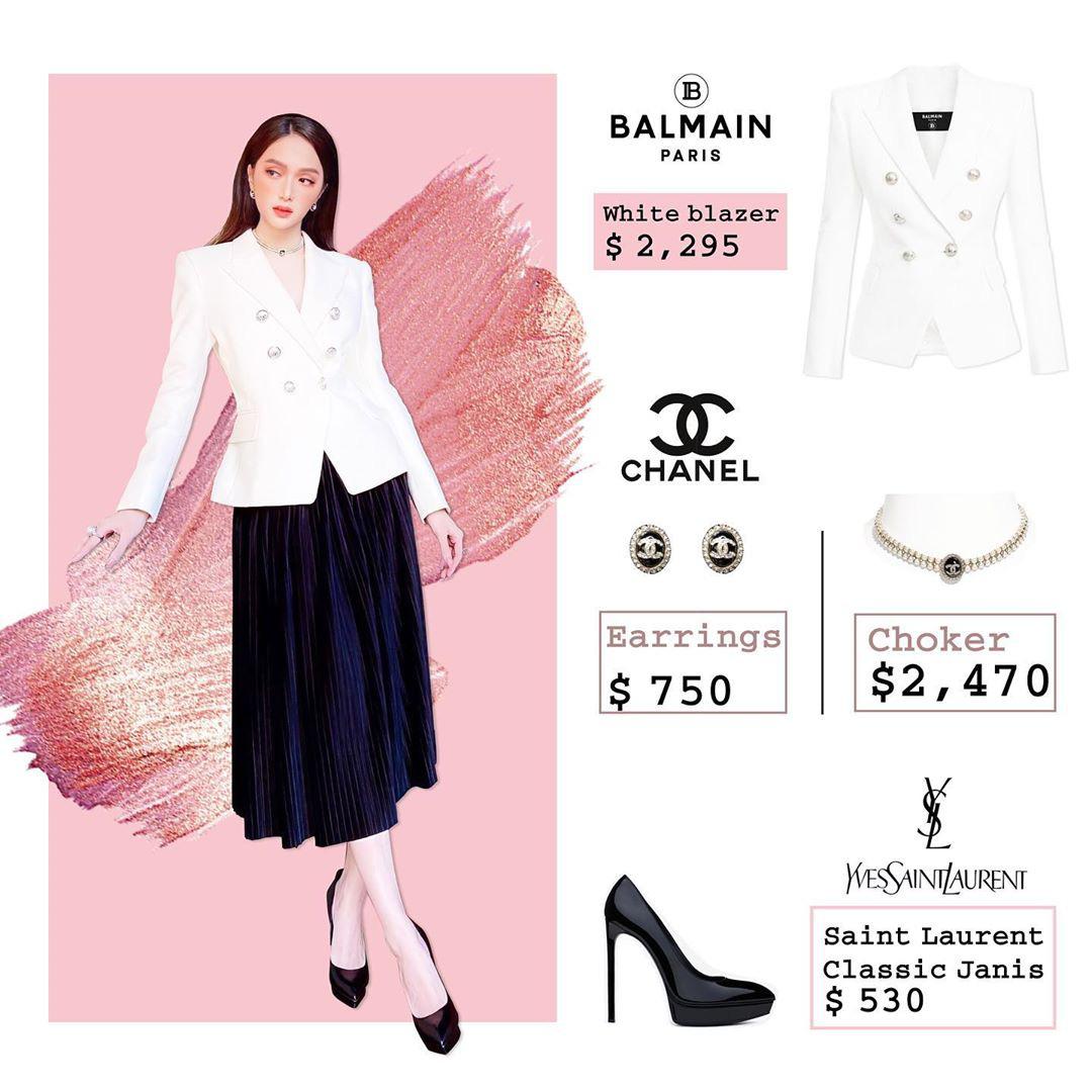 Bóc giá loạt outfit của Hương Giang từ khi hẹn hò Matt Liu: Cây nào cũng trăm triệu, đồng hồ gần tỷ đeo như cơm bữa - Ảnh 4.