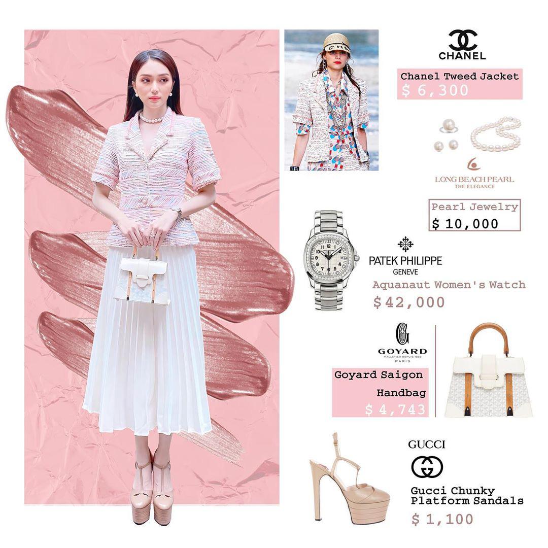 Bóc giá loạt outfit của Hương Giang từ khi hẹn hò Matt Liu: Cây nào cũng trăm triệu, đồng hồ gần tỷ đeo như cơm bữa - Ảnh 2.