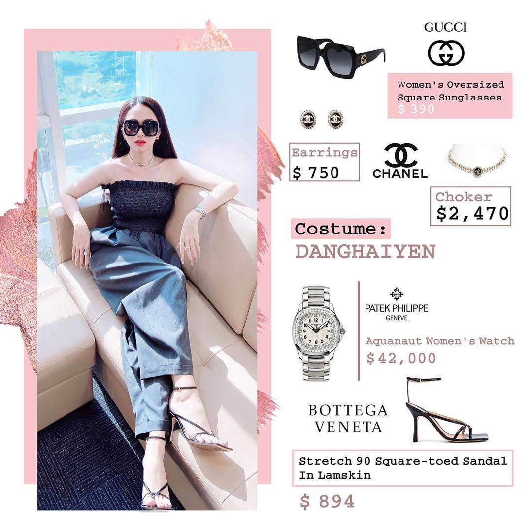 Bóc giá loạt outfit của Hương Giang từ khi hẹn hò Matt Liu: Cây nào cũng trăm triệu, đồng hồ gần tỷ đeo như cơm bữa - Ảnh 3.