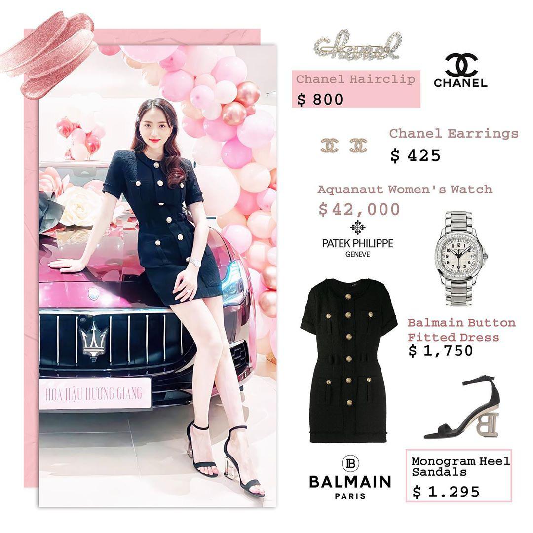 Bóc giá loạt outfit của Hương Giang từ khi hẹn hò Matt Liu: Cây nào cũng trăm triệu, đồng hồ gần tỷ đeo như cơm bữa - Ảnh 1.
