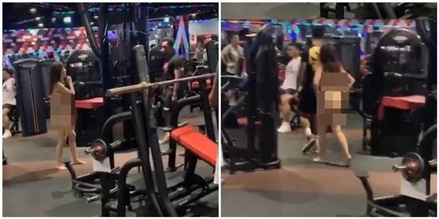 Không cho dắt mèo vào tập gym cùng, cô gái ngang ngược cởi hết đồ đạc đi tới đi lui trong phòng tập khiến ai cũng ngỡ ngàng - Ảnh 1.