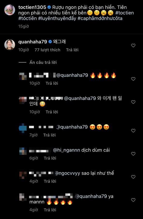 Haha (Running Man) khiến fan rần rần vì bất ngờ thả bình luận hỏi thăm Tóc Tiên: Sao thân thiết quá thế này? - ảnh 1