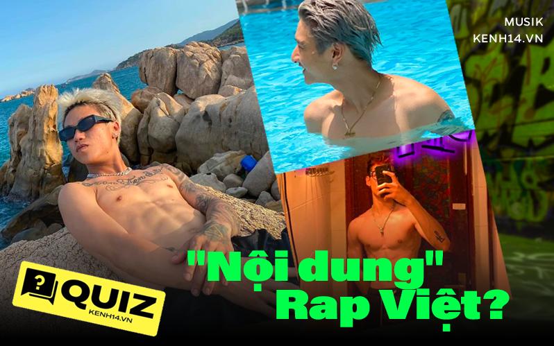 """Tự hỏi vì sao Rap Việt hot thế, à thì ra """"nội dung"""" chất lượng đến thế này cơ mà, liệu bạn có hiểu được hết nội dung """"mlem"""" này chưa?"""
