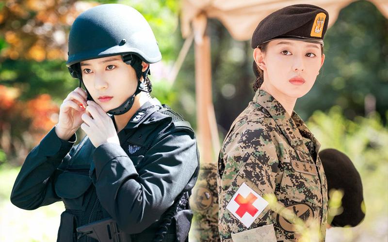 """Người ta đẹp vì lụa còn Krystal dù diện quân phục vẫn đẹp mê, thậm chí còn có cửa đọ với """"nữ thần quân nhân"""" Kim Ji Won"""