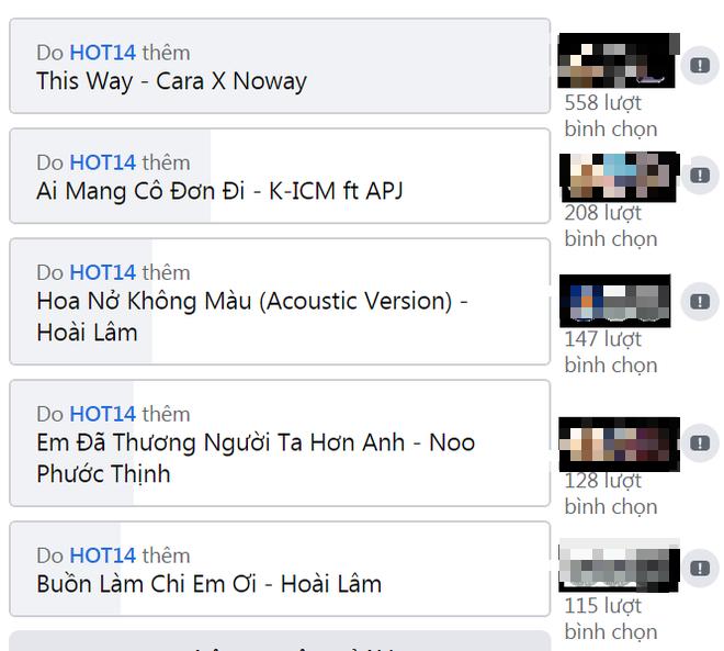 Cuộc chiến sôi nổi của những ca khúc đình đám và các fandom mạnh nhất Vpop trên No.1 Realtime HOT14 - ảnh 6