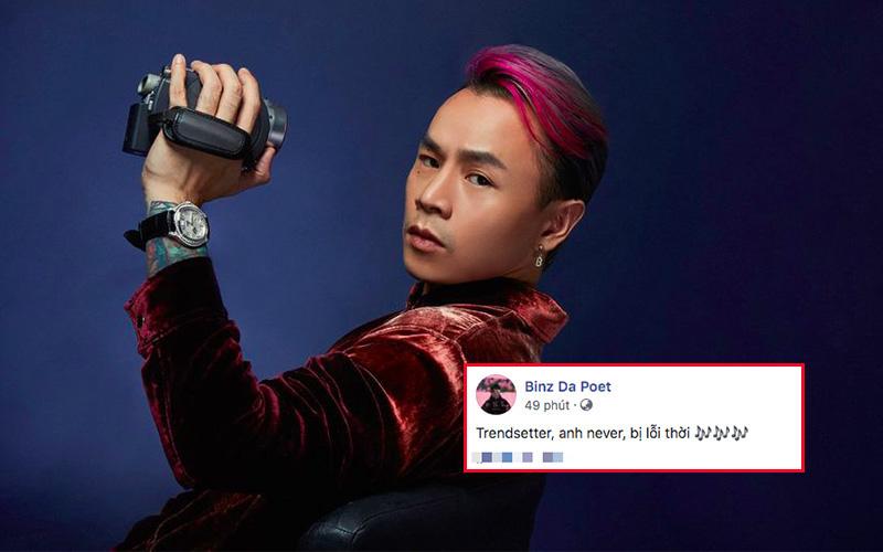 """Binz nhá hàng câu lyrics gọi mình là """"trendsetter"""" các kiểu, fan lập tức """"cà khịa"""" chê cách tạo dáng lỗi thời tại Rap Việt"""