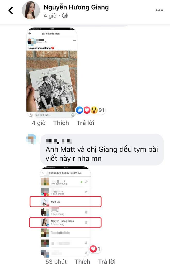 Được tag thẳng vào ảnh vẽ cảnh khóa môi trên du thuyền, Matt Liu - Hương Giang đồng loạt phản ứng tâm đầu ý hợp - ảnh 2