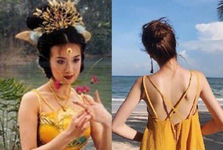 Thì ra Tây Du Ký mở ra loạt trend thời trang khủng: Từ khăn cổ nữ sinh, áo lưới xuyên thấu đến bộ bra đính đá chị em truy lùng - ảnh 1