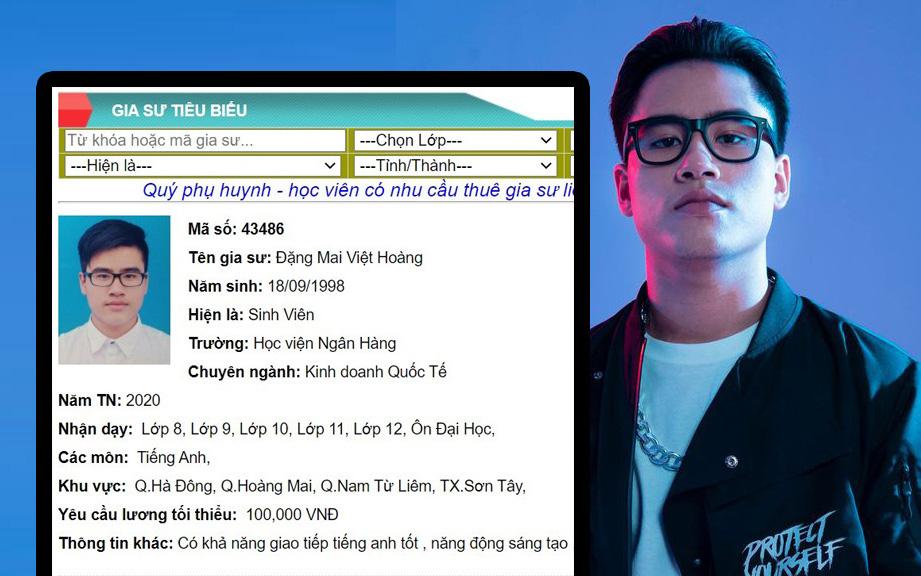 """Được truy lùng sau tập 8 Rap Việt, """"cơn địa chấn"""" G.Ducky lộ profile sáng gia sư, tối về làm rapper!"""