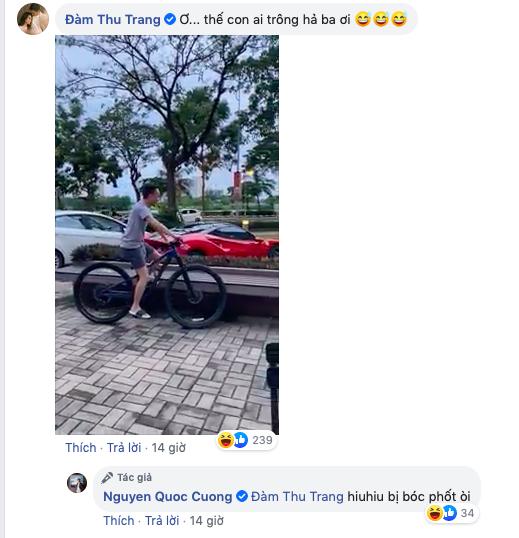 """Cường Đô La đăng ảnh than phải chăm con cho vợ lái siêu xe đi chơi, Đàm Thu Trang tung luôn bằng chứng """"tố ngược"""" đâu kém - ảnh 2"""