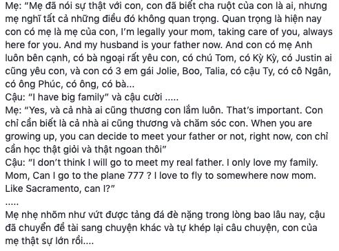 """Thanh Thảo hé lộ phản ứng bất ngờ của bé Jacky khi nhắc về Ngô Kiến Huy: """"Con không muốn khóc, con nghĩ sẽ không gặp lại ba ruột"""" - ảnh 4"""