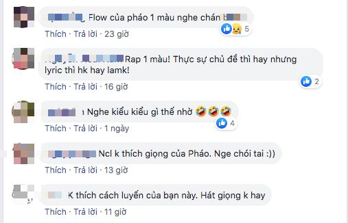 Pháo tiếp tục nhận chỉ trích dù giành vé đi tiếp tại King Of Rap: Cách rap một màu, giọng the thé nên đi hát hơn làm rapper? - ảnh 5