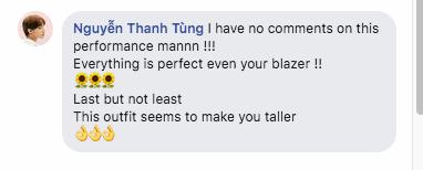 Sơn Tùng M-TP hiếm lắm mới dùng FB cá nhân đi comment dạo, vừa khen ngợi hết lời vừa cà khịa chiều cao của nam ca sĩ trẻ - ảnh 2