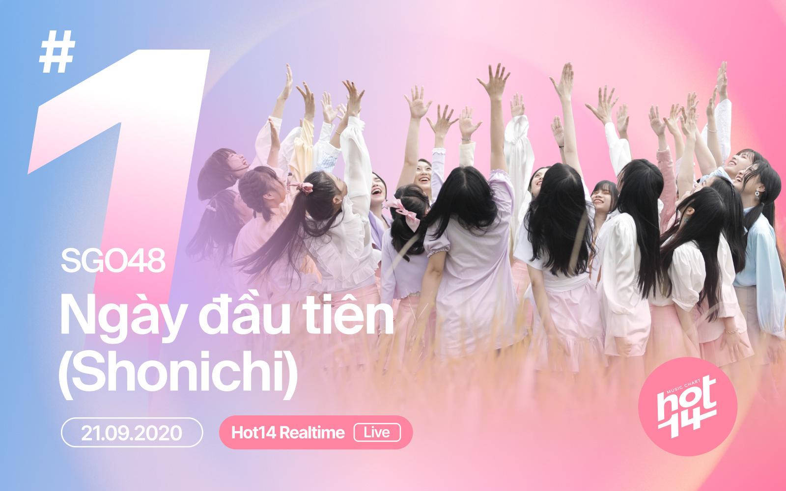 Nhóm nhạc đông dân nhất Việt Nam SGO48 bất ngờ giành #1 BXH HOT14 Realtime sau 3 ngày phát hành