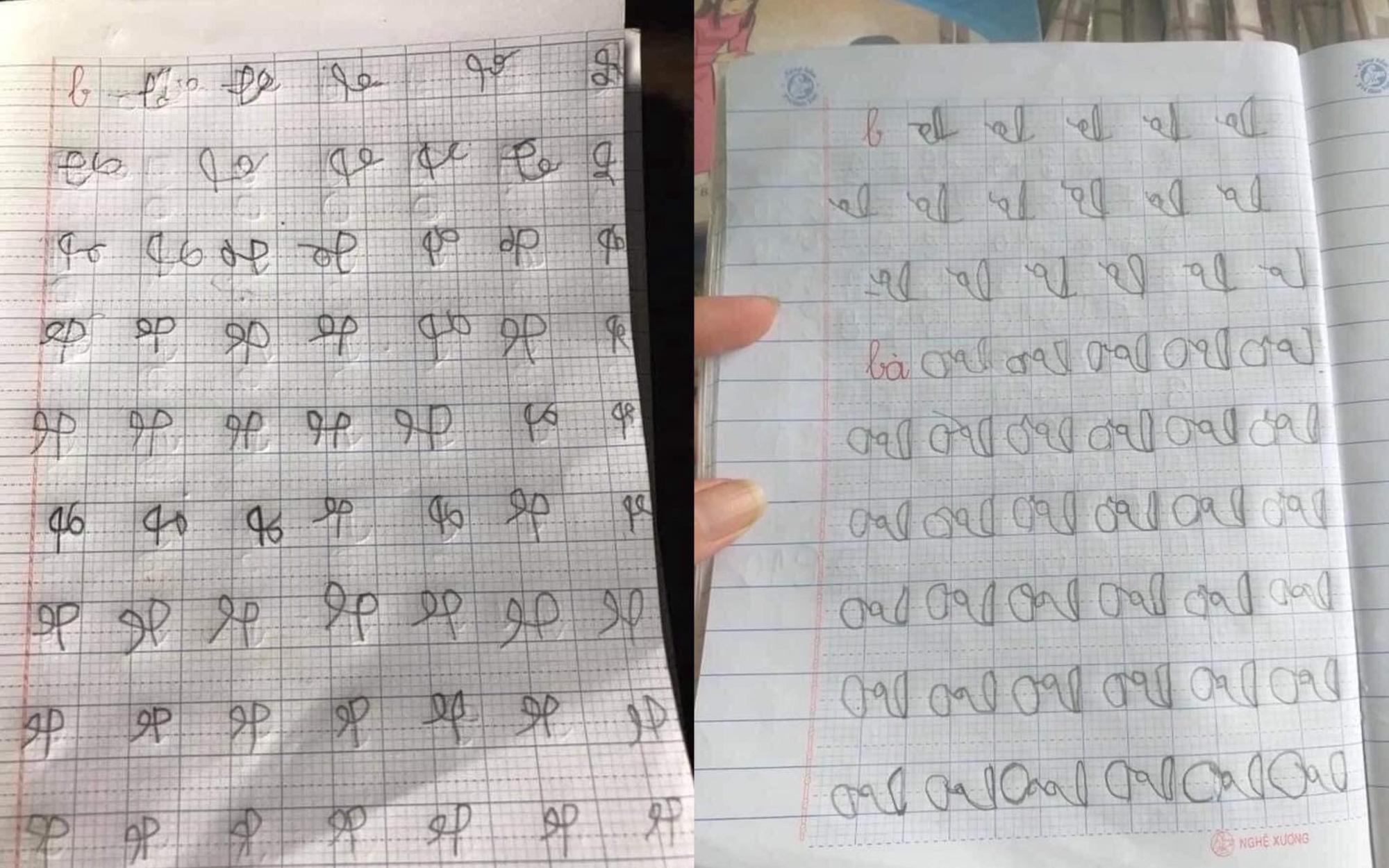 Khoe ảnh con học lớp 1 mới tập viết mà đảo lộn ngược cả mặt chữ, phụ huynh tưởng vui nhưng lại tiềm ẩn những nguy cơ không ngờ