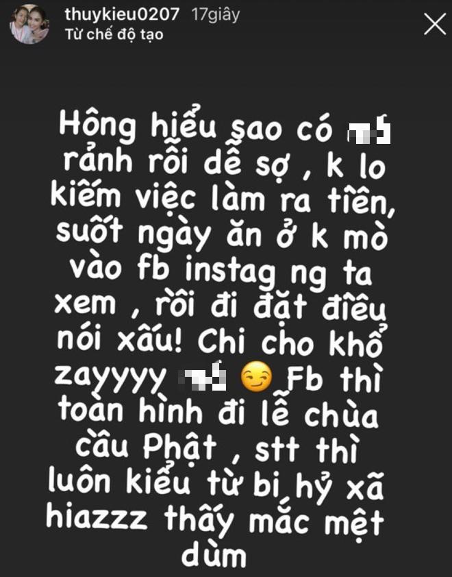Thuý Kiều - trợ lý Ngọc Trinh đăng story tố ai đó thường xuyên vào Instagram mình đặt điều nói xấu - ảnh 1