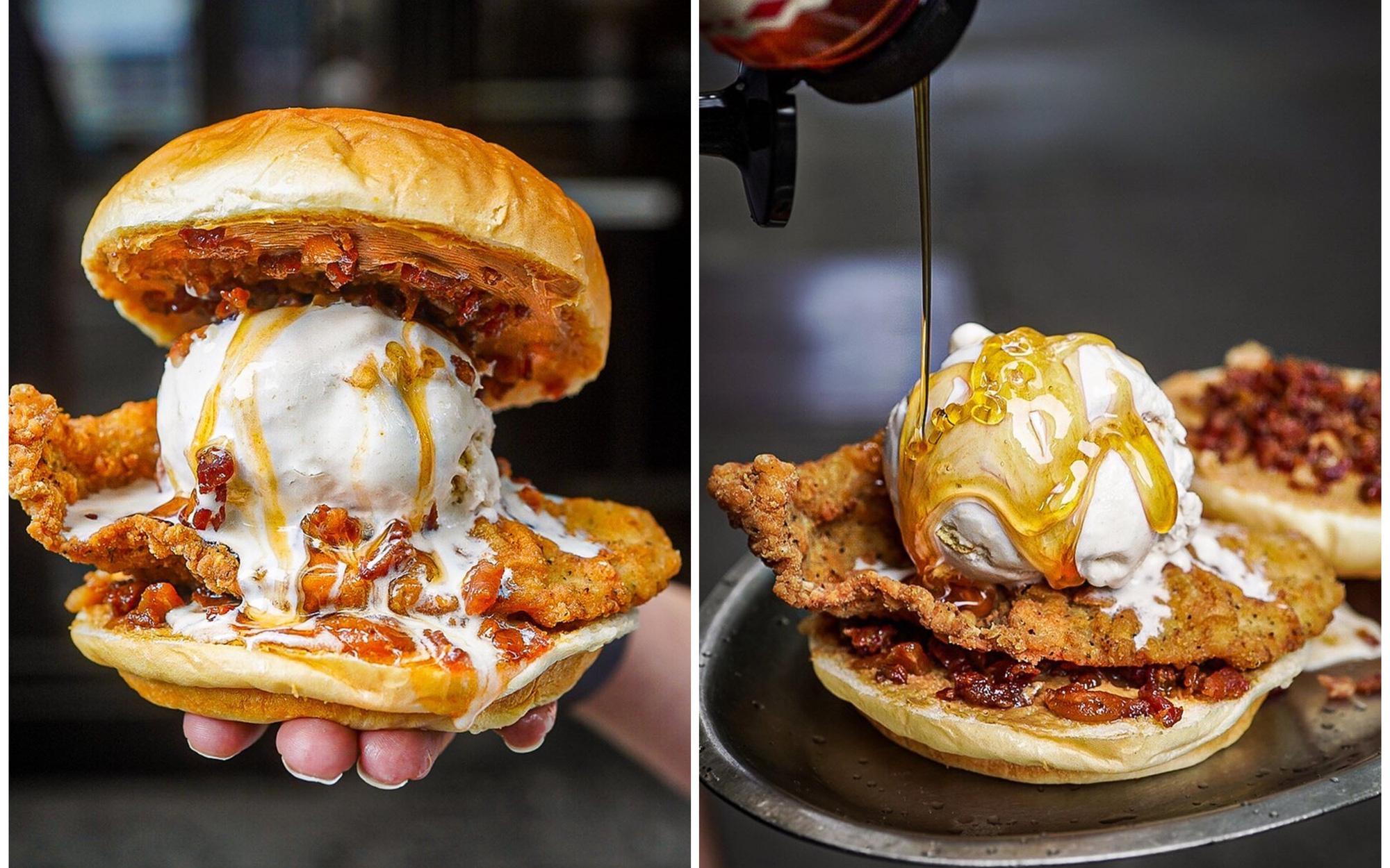 Burger kẹp kem cực lạ: Sự kết hợp mặn ngọt lẫn lộn chẳng giống ai mà cũng chẳng mấy ai dám thử