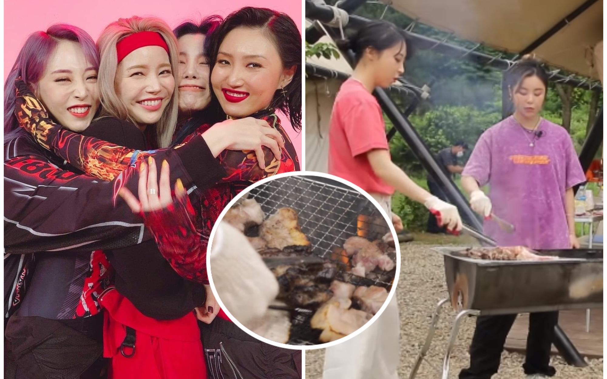 """Thương cho MAMAMOO: Tính trổ tài nấu ăn nhưng lại suýt biến bữa BBQ thành """"tiệc nướng bóng đêm"""" khét lẹt"""