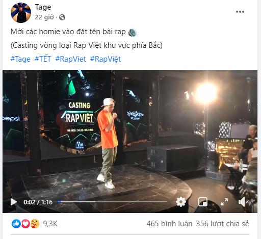 Tage ngầu đét ngay từ vòng loại Rap Việt, fangirl lập tức gào thét chồng em! - ảnh 1