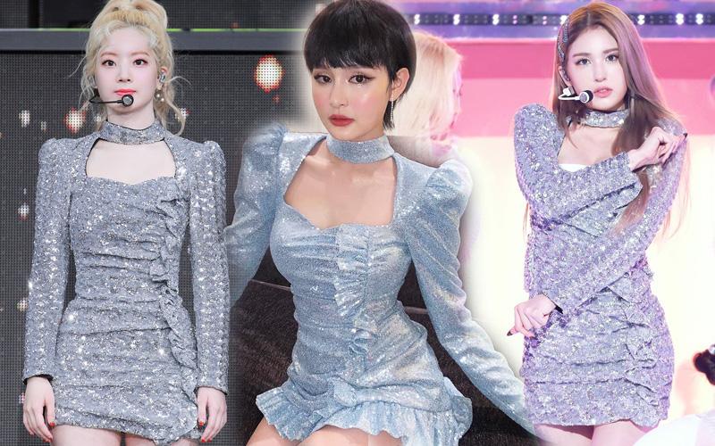 """Hiền Hồ là người dưng với Somi và Dahyun nhưng sao váy của 3 nàng lại như """"có họ hàng"""" thế này?"""