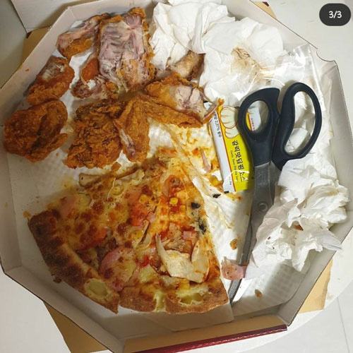 Bức ảnh tưởng vui vẻ nhưng lại gây phẫn nộ: Chồng sao nữ xứ Hàn để dành phần thức ăn cho vợ, ai dè nhìn như... rác và đồ thừa - ảnh 2