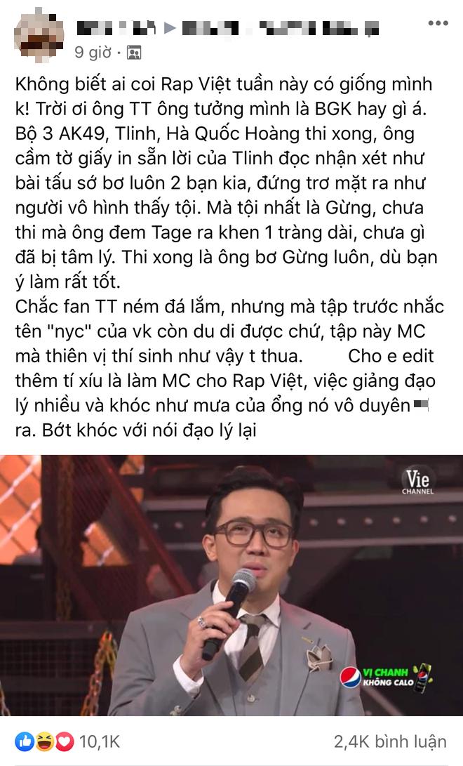 Tlinh bị gắn mác con cưng Rap Việt vì được thiên vị: Suboi chia cho line rap hay nhất, Trấn Thành mải khen quên luôn 2 thí sinh còn lại? - ảnh 4