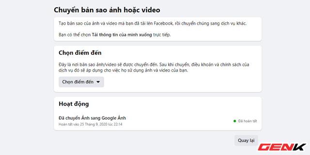 Cách chuyển toàn bộ ảnh từ Facebook sang Google Photos để phòng trường hợp bị khóa tài khoản - ảnh 12
