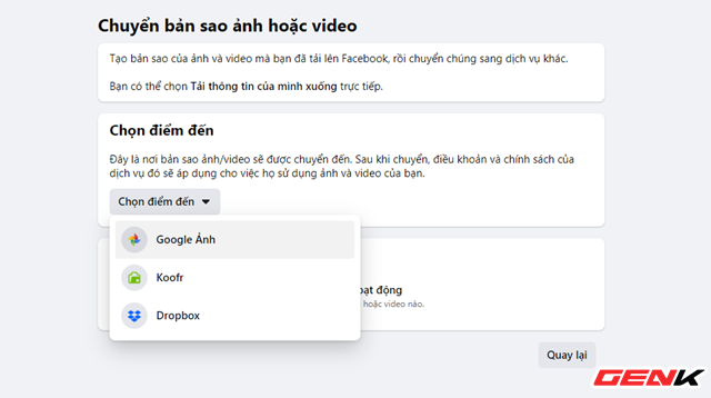 Cách chuyển toàn bộ ảnh từ Facebook sang Google Photos để phòng trường hợp bị khóa tài khoản - ảnh 7