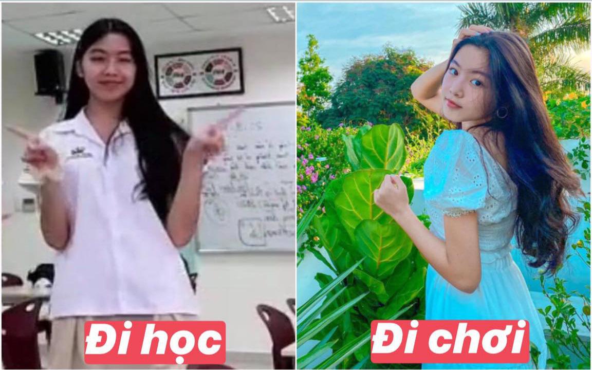 """Lọ Lem nhà MC Quyền Linh thực sự có """"gen mỹ nhân"""", so ảnh đi học - đi chơi mà thấy làm gì cũng đẹp quá!"""